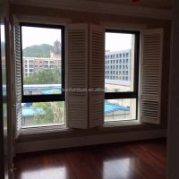 French Window Decorative Interior Plantation Shutter Wood