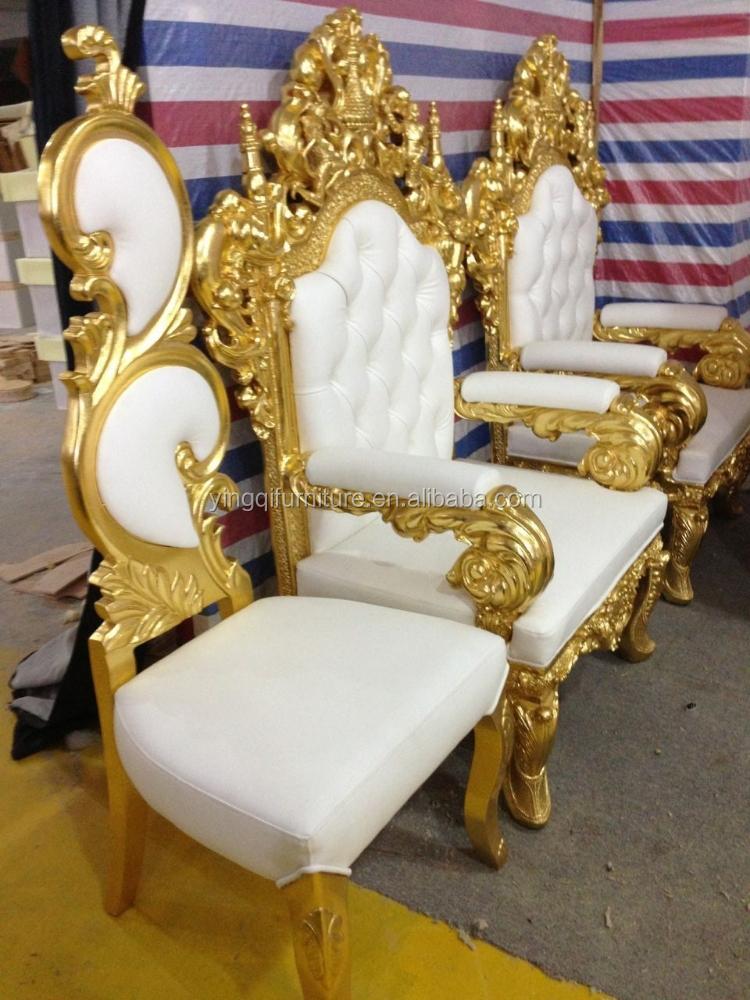 Estilo francs del trono real rey sillas para salas de