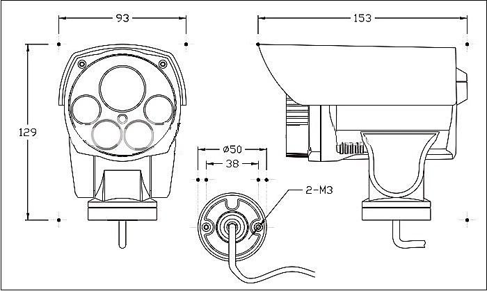 Venda Imperdível Zoom Óptico De 2mp 10x Externo À Prova