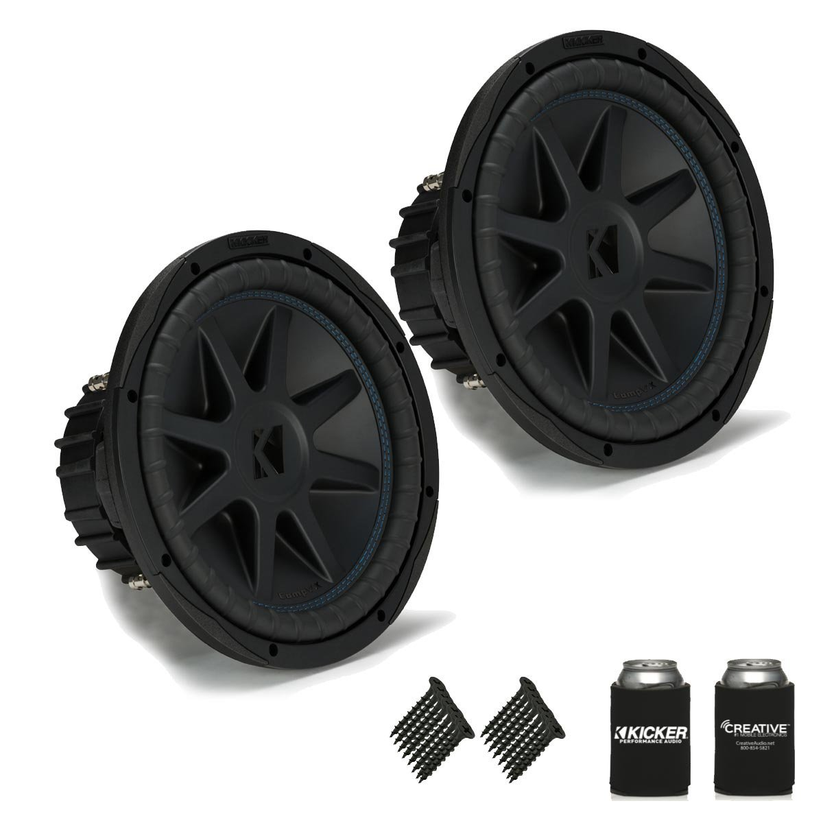 hight resolution of get quotations kicker 44cvx124 compvx 12 subwoofers bundle dual 4 ohm voice coils for wiring to