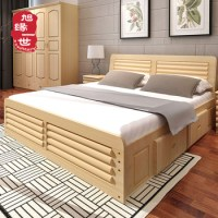 Latest Bedroom Furniture Double Bed Designs In Wood King ...
