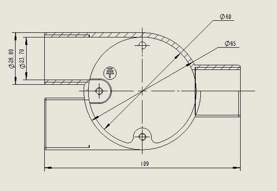 Bs4568 Pipe Fittings Metric Thread Gi Electrical Conduit