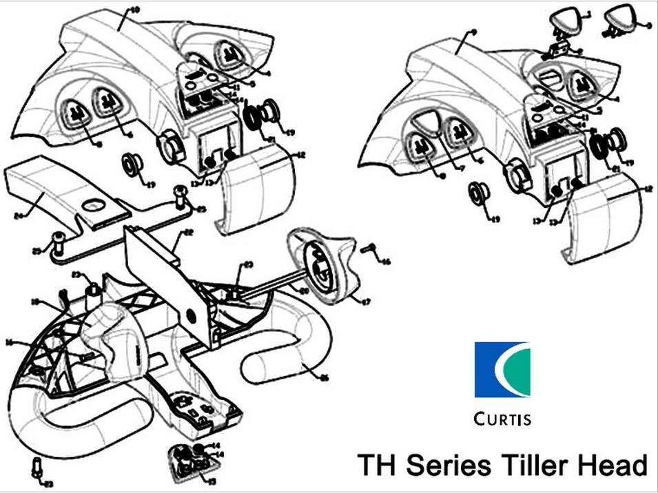 Forklift Parts,Curtis Tiller Head,Forklift Control Handle