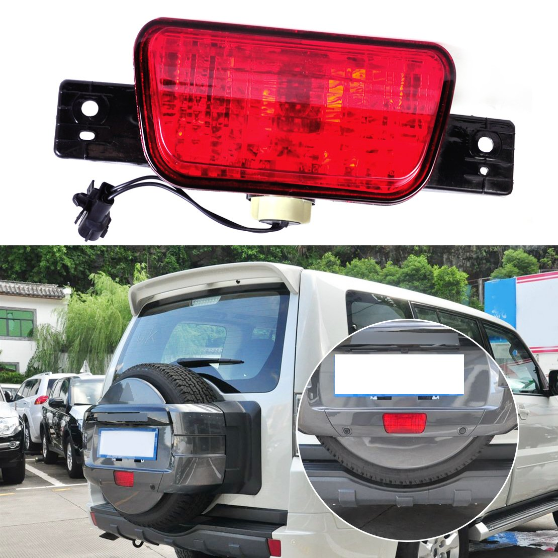 hight resolution of get quotations beler rear spare tire lamp tail bumper light fit for mitsubishi pajero shogun