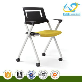 folding chair nylon booster seat high black back moveable office buy