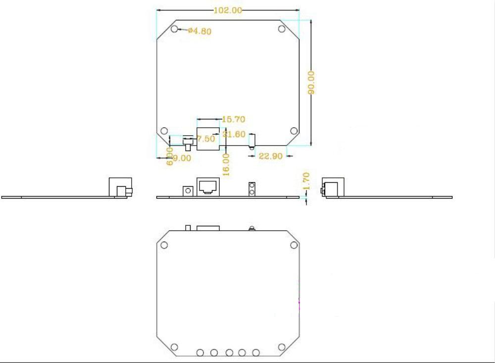Ceiling Ap Wireless Router Plastic Case Wireless Network