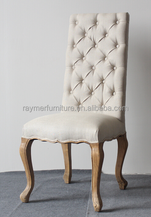 fabric living room chairs home office in ideas cream linen button tufted high back dining ...