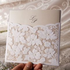 Wedding Chair Covers Alibaba Duet Rollator Transport Beautiful Laser Cut Invitation Cards With Pearl Decoration & Pocket - Buy Unique ...
