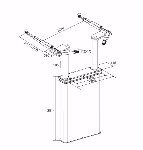small resolution of underground two post car lift for sale