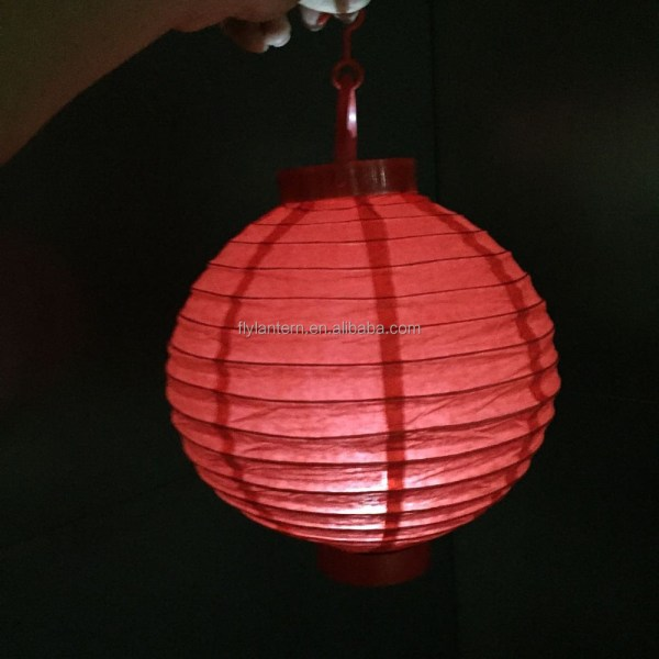 """8"""" Battery Operated White Paper Lanterns"""