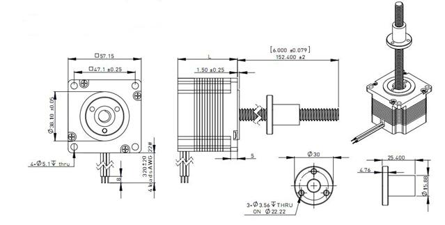 China Supplier Linear Actuator 2 Phase Nema 23 Stepper