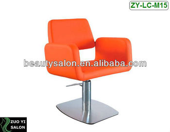 orange chair salon round dining table with chairs color styling hydraulic zy lc m15 buy