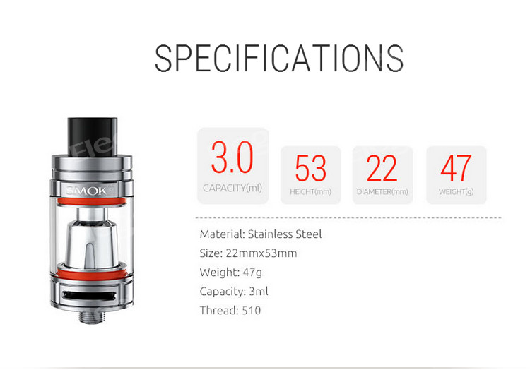 New Products 2016 3ml Mini Size Top Filling Smok Tfv8 Baby