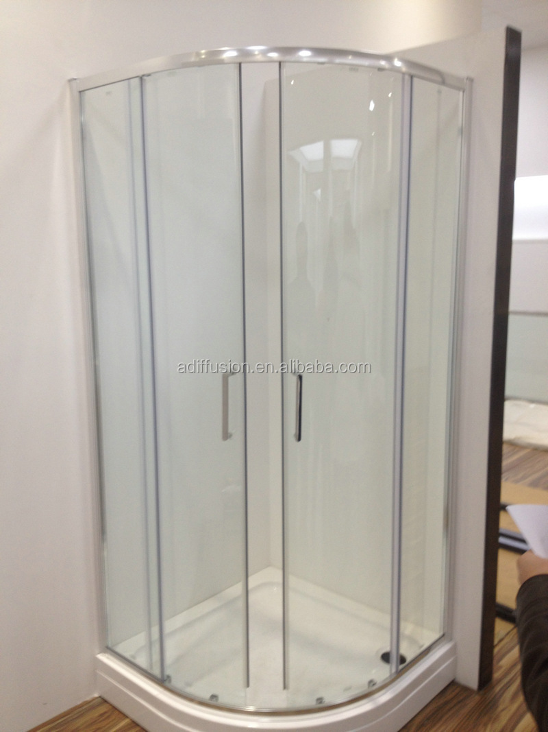 Patented Quick Installation Double Wheels Curved Glass Shower Door  Buy Curved Glass Shower