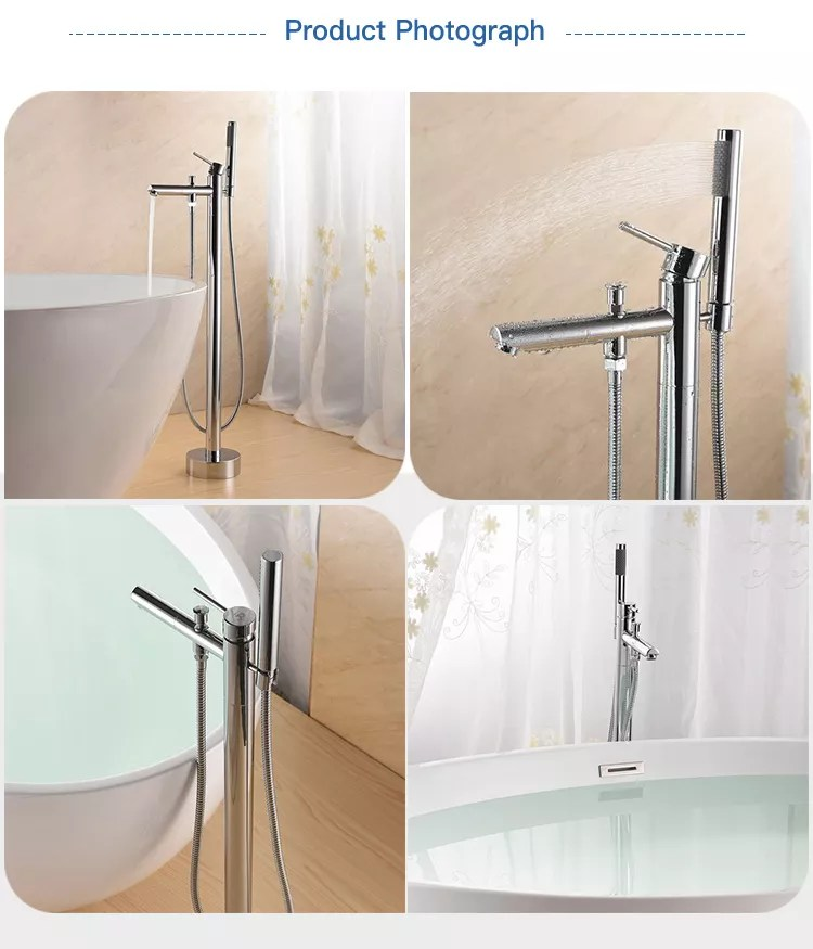 cupc ce watermark stand up bathroom faucet free standing tub faucet buy freestanding bath mixer with hand shower free standing bathtub faucet floor
