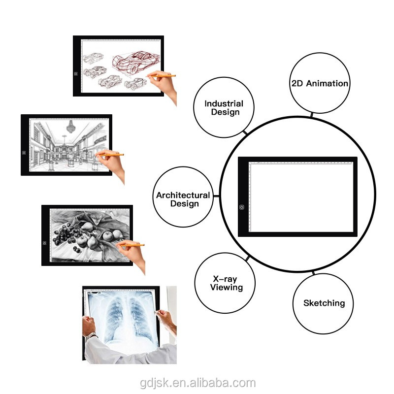36*24cm Digital Drawing Board Ultra Thin Light Tracing Art