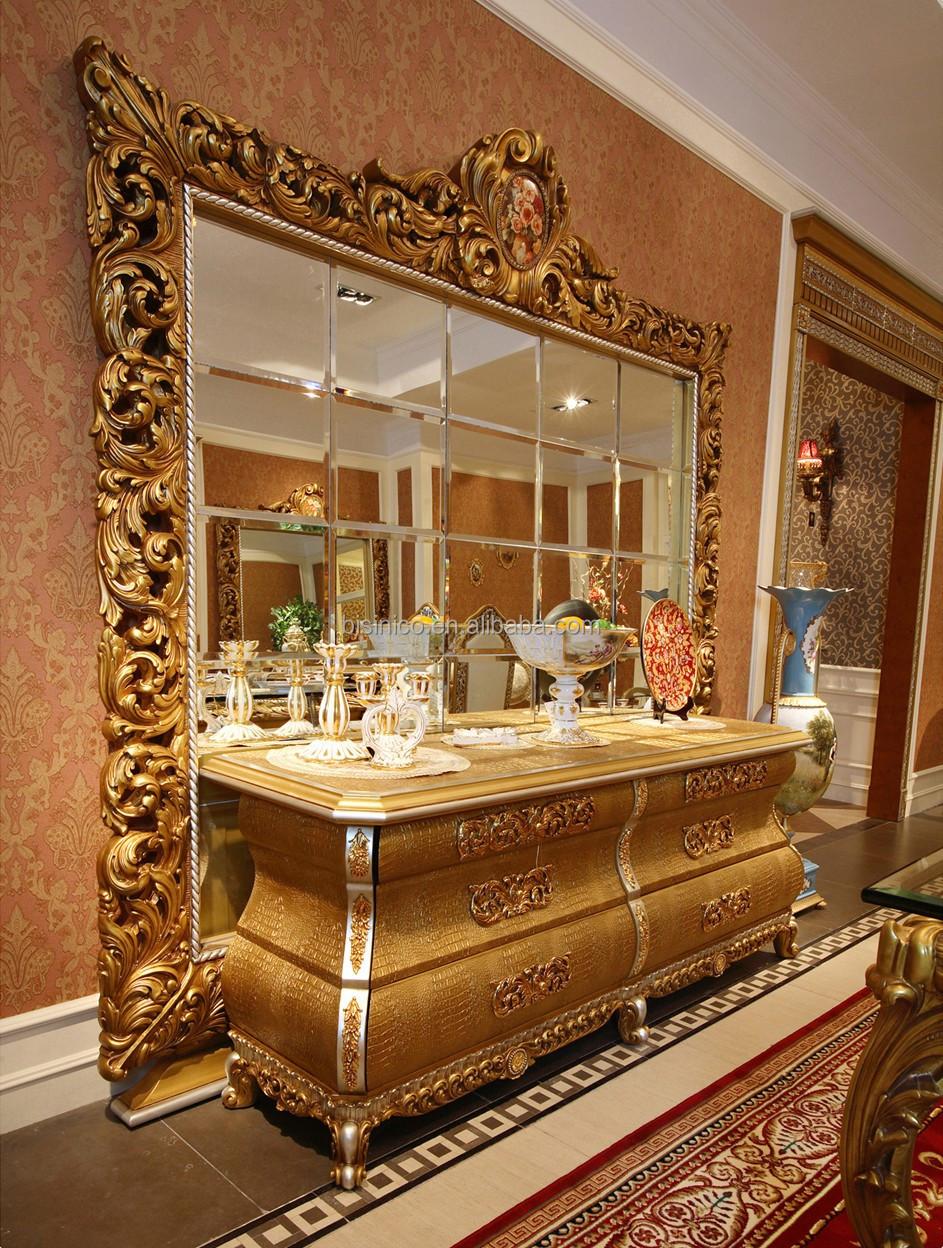 Rococ francs diseo redondo de oro silla de comedor