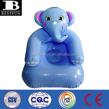 promotionnel personnalise elephant bleu chaise gonflable pour enfants pas cher enfants gonflables chaises chaises en plastique