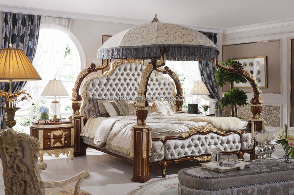 Italian  French Rococo Luxury Bedroom FurnitureDubai