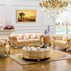 Dubai Living Room Furniture Wall Color Combination For Danxueya Yellow Classic Wood New Model