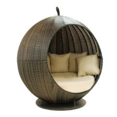 Round Wicker Chair Wheelchair Tagalog Rattan Cosy Outdoor Daybed With Canopy - Buy Bed Outdoor,outdoor ...