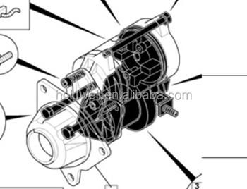 Starter Motor Forjcb Excavator Parts 714/40524 714/40294