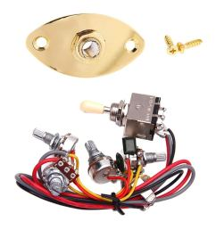 homyl output jack plate socket 3 way toggle switch circuit wiring for lp guitar [ 1024 x 1024 Pixel ]