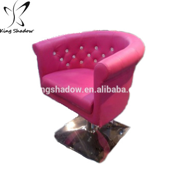 pink salon styling chair sitting room styles cheap used bar stools chairs buy