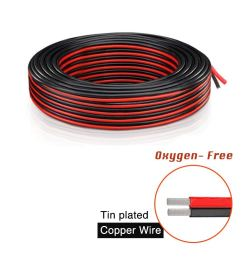 get quotations brightfour 220 feet 18 gauge awg 2 conductor electrical wire 110 ft red and 110 [ 1000 x 1000 Pixel ]