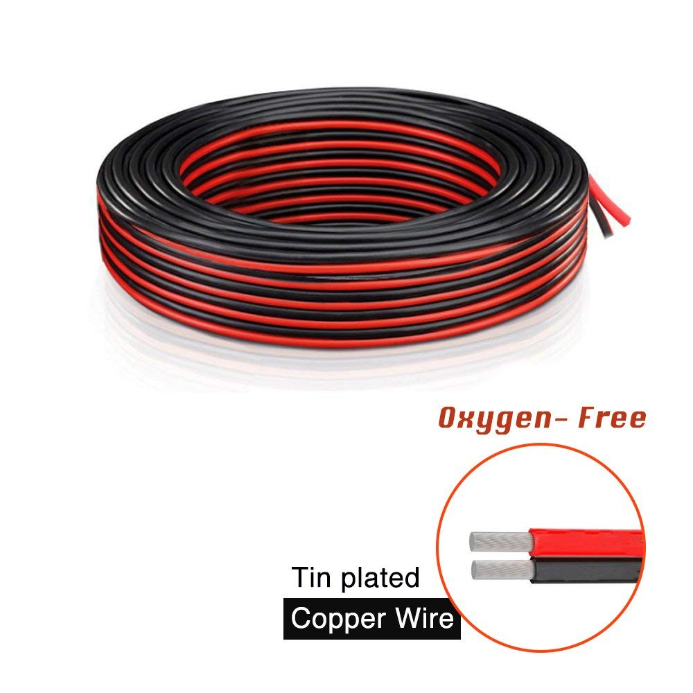 medium resolution of get quotations brightfour 220 feet 18 gauge awg 2 conductor electrical wire 110 ft red and 110