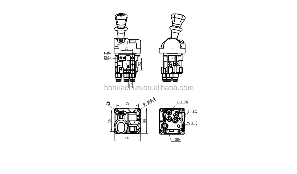Sinotruk,Howo,Hand Control Valve 14750667h,Manual Control