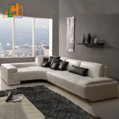 L Shaped Black Leather Sofa Set Suede Sofas Alibaba Online Sale European Style Couch Living Room Furniture Corner