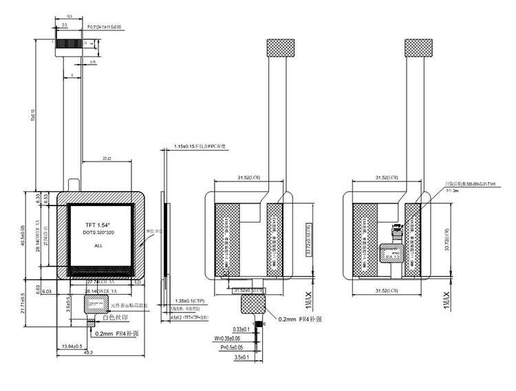 Shenzhen Lcd Display Qvga 1.54 Inch Tft Lcd Module With Ctp - Buy Shenzhen Lcd Display.Qvga1.54 Inch Tft Lcd Module.Tft Lcd Module With Ctp ...