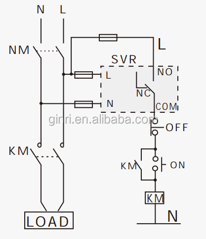 Single Phase Over Voltage Relay Svr-220 Voltage Protection