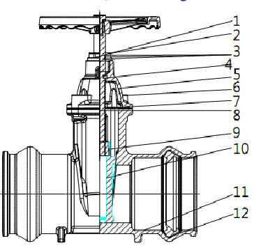 Socket Gate Valve with Square Operating Nut, View gate