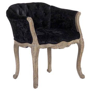 crushed velvet chair metal desk french rustic wooden tufted dining antique black