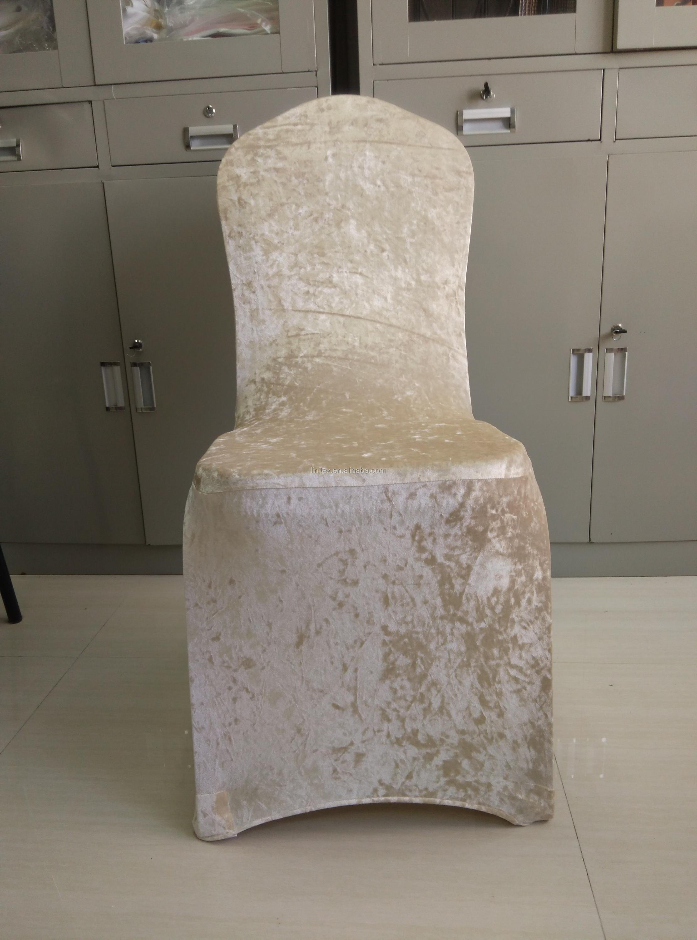 Champagne Chair Covers Polyester Velvet Suede Spandex Stretch Thick Luxury Chair Cover Champagne Buy Thick Velvet Suede Stretch Spandex Chair Cover Polyester Velvet Suede