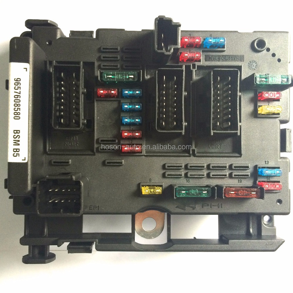 hight resolution of peugeot 206 fuse box 6500 y1 9657608580 9657608780 bsm