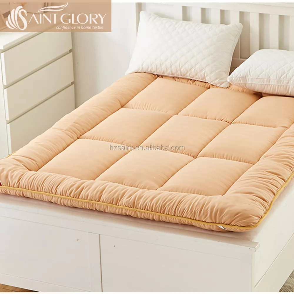 elastic straps thick topper bed comfortable down alternative hotel hollow fiber pillow top mattress pad buy pillow top mattress pad hotel mattress