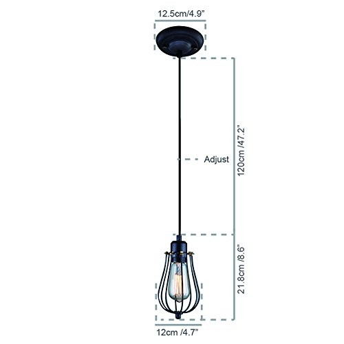 Shinetime Vintage Style Industrial Hanging Light Mini