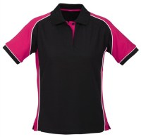 Latest Design Black Pink Women Polo Shirts With Custom ...