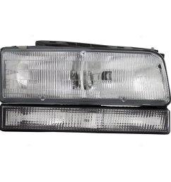 get quotations passengers combination headlight headlamp replacement fits 92 96 buick lesabre 91 96 park avenue [ 1000 x 1000 Pixel ]