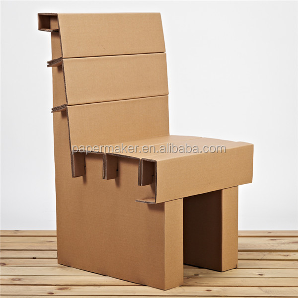 Wholesale Folding Cardboard Chair Corrugated Furniture