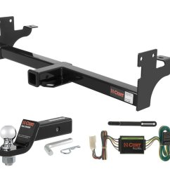 get quotations curt class 3 trailer hitch tow package with 2 ball for acura slx isuzu [ 1024 x 1024 Pixel ]