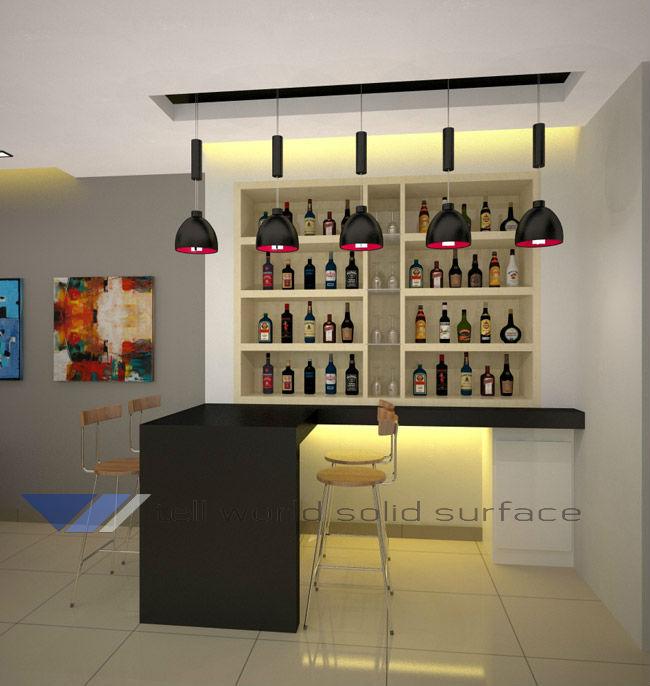 Western Style Bar Counters Design Mini Hotel Counter Modern