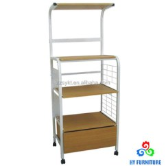 Wire Kitchen Cart Standard Size Sink Rolling Metal Wooden Trolley Microwave Stand Pantry Rack With Drawer