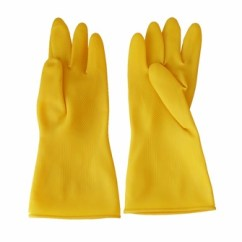 Kitchen Gloves 3 Bowl Sink Yellow Rubber 100 Latex Household Cleaning Buy