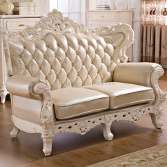 Solid Wood Sofa Set White Leather Sofas 2015 New Model Luxury Modern Elegant Fabric Wooden ...
