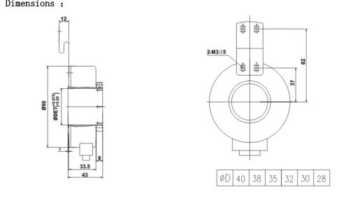 Big Size 40mm Hollow Shaft 1000ppr Pulse Line Driver Abz
