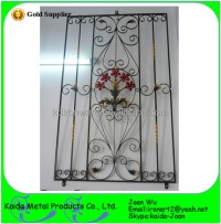 Simple Wrought Iron/steel Window Grills Design With Paint ...
